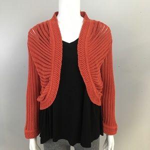 Yansi Fugel Open Cardigan Sweater
